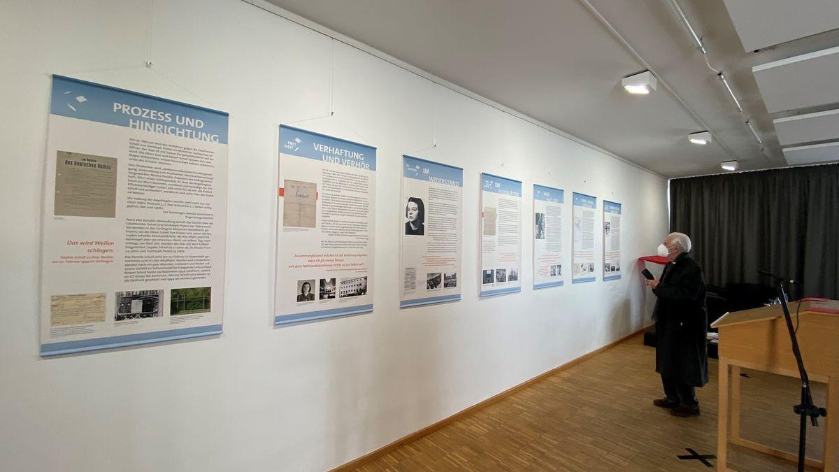 Schautafeln in der Ausstellung über Sophie Scholl