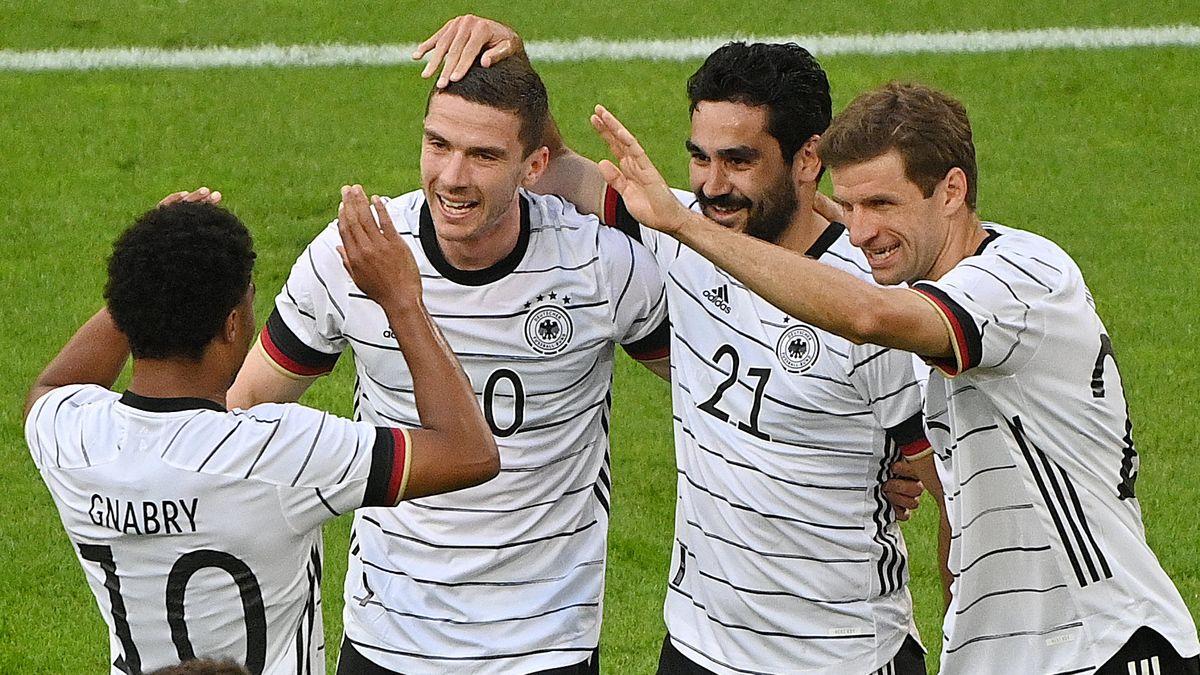 Torjubel bei der deutschen Nationalmannschaft.