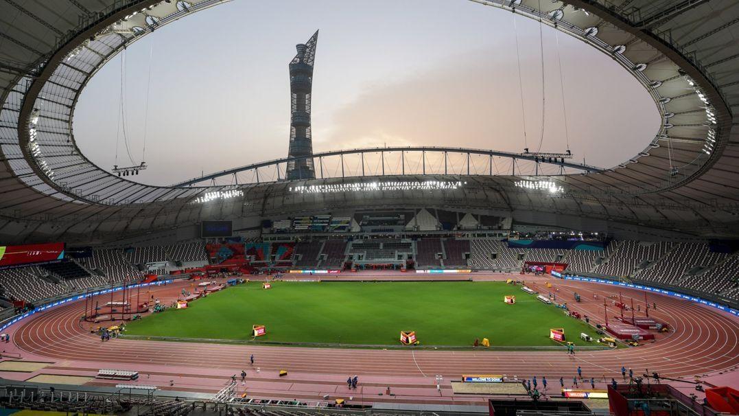 Das Khalifa International Stadion in Katar