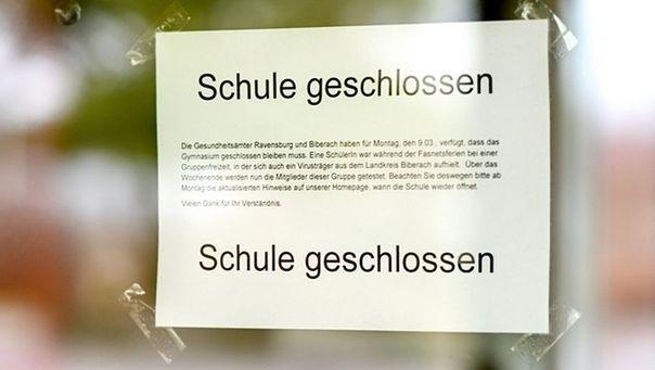 Aufgrund der Ausbreitung des Coronavirus bleiben Schulen in Bayern bis zum 19. April geschlossen.
