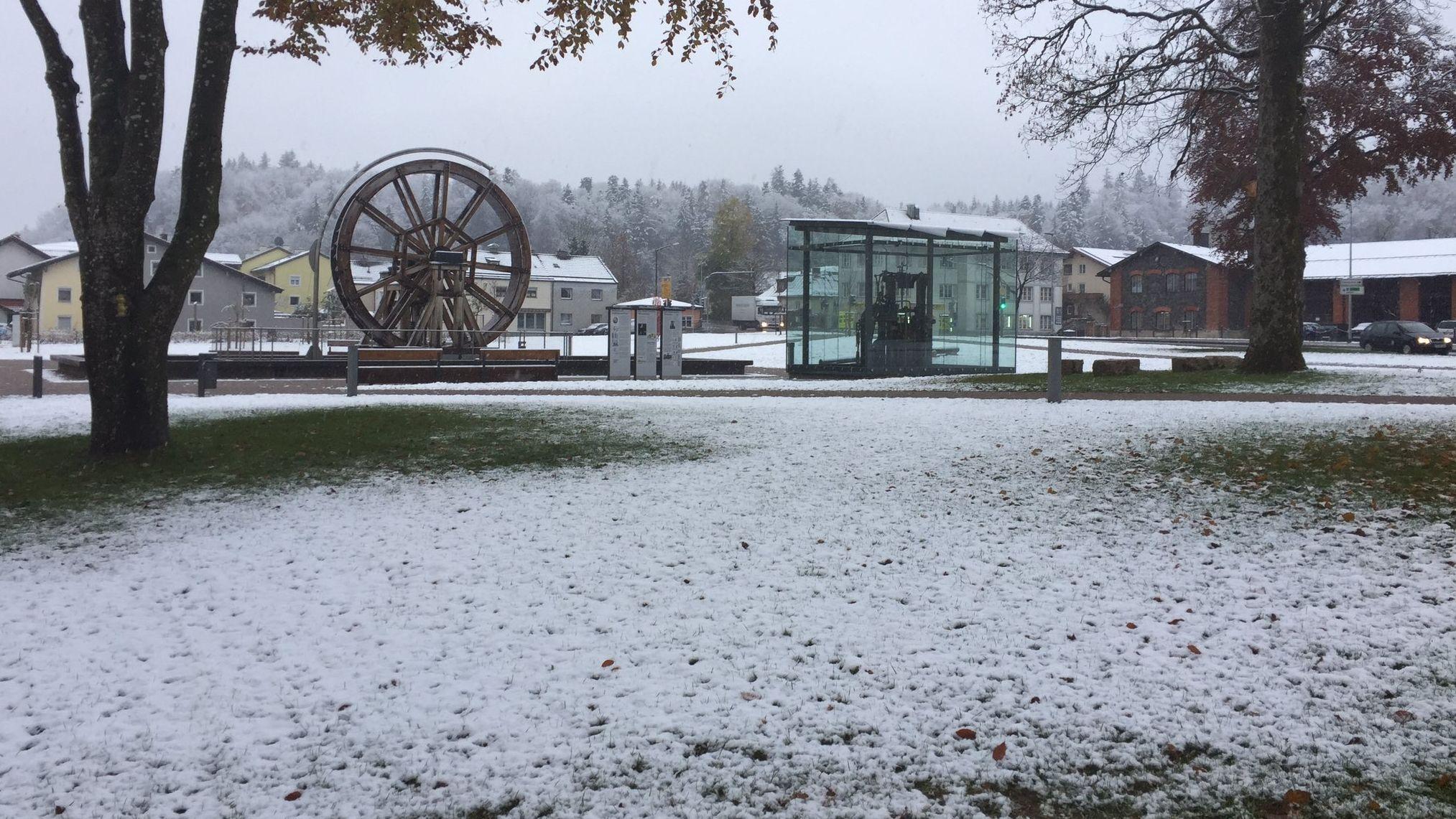 Schnee in Traunstein