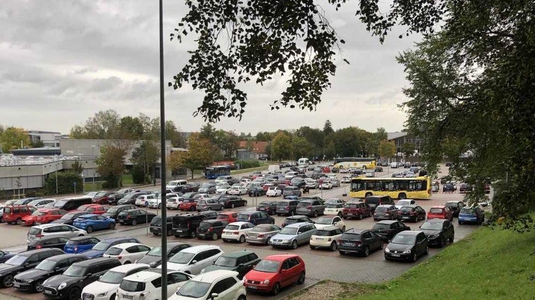 """Der """"Tatort"""": Parkplatz des Caprima Freizeitbades"""