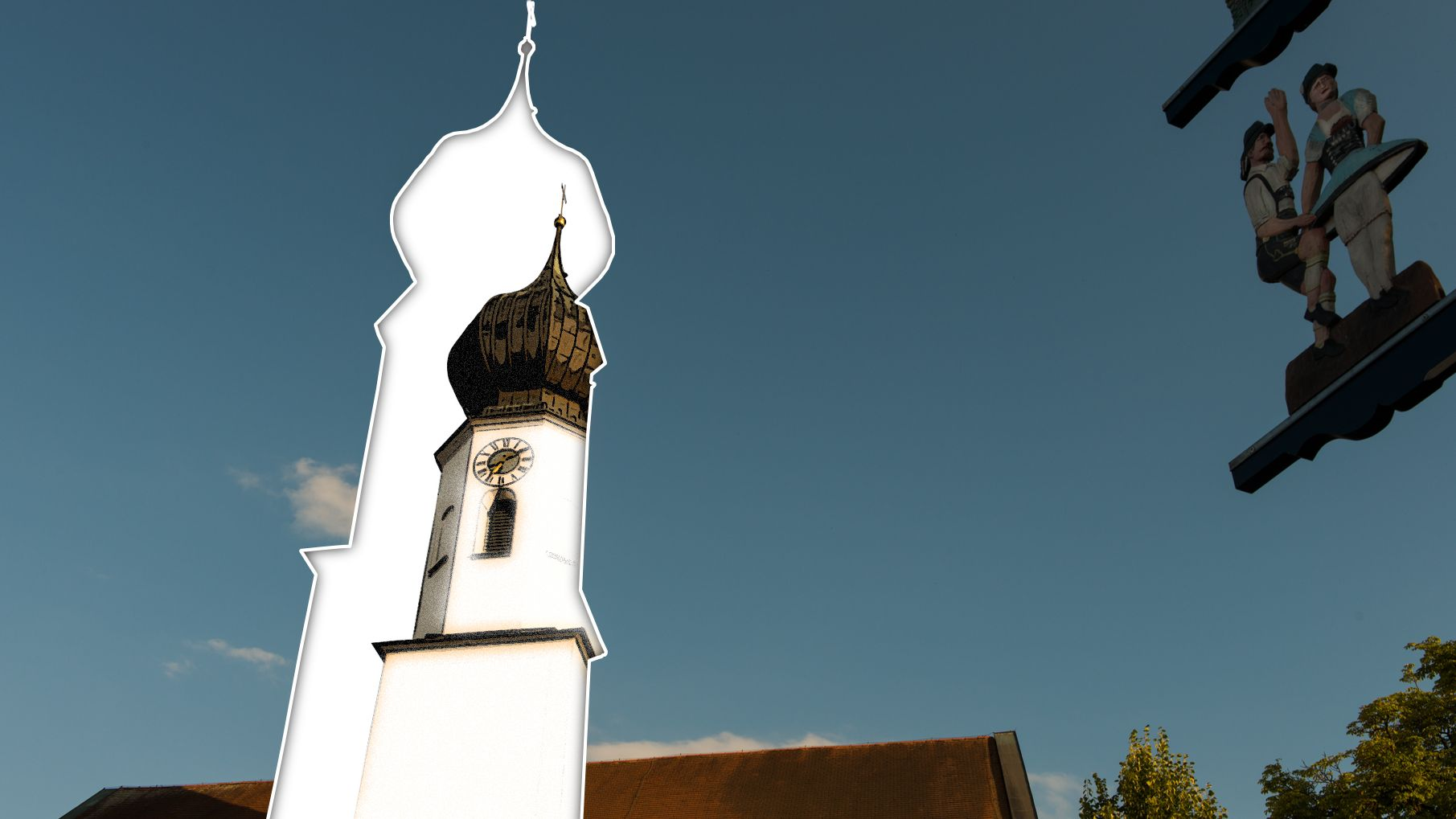 Verkleinerter Kirchturm