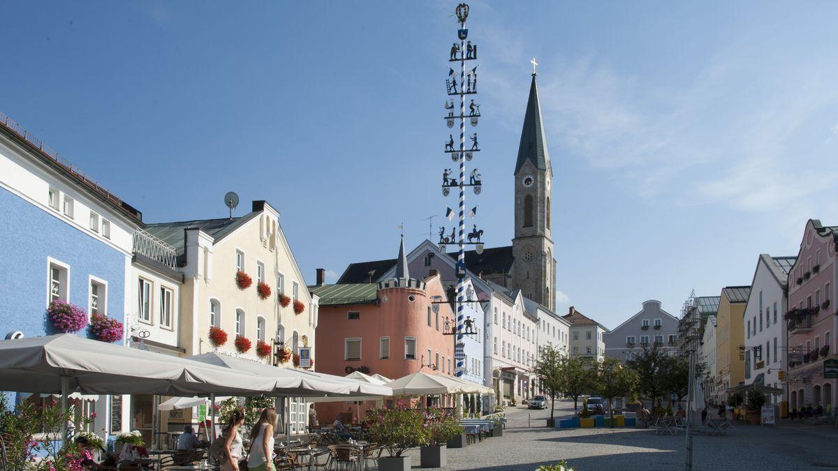 Stadtplatz in Waldkirchen.