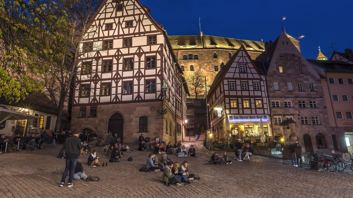 Wanderer in Nürnberg