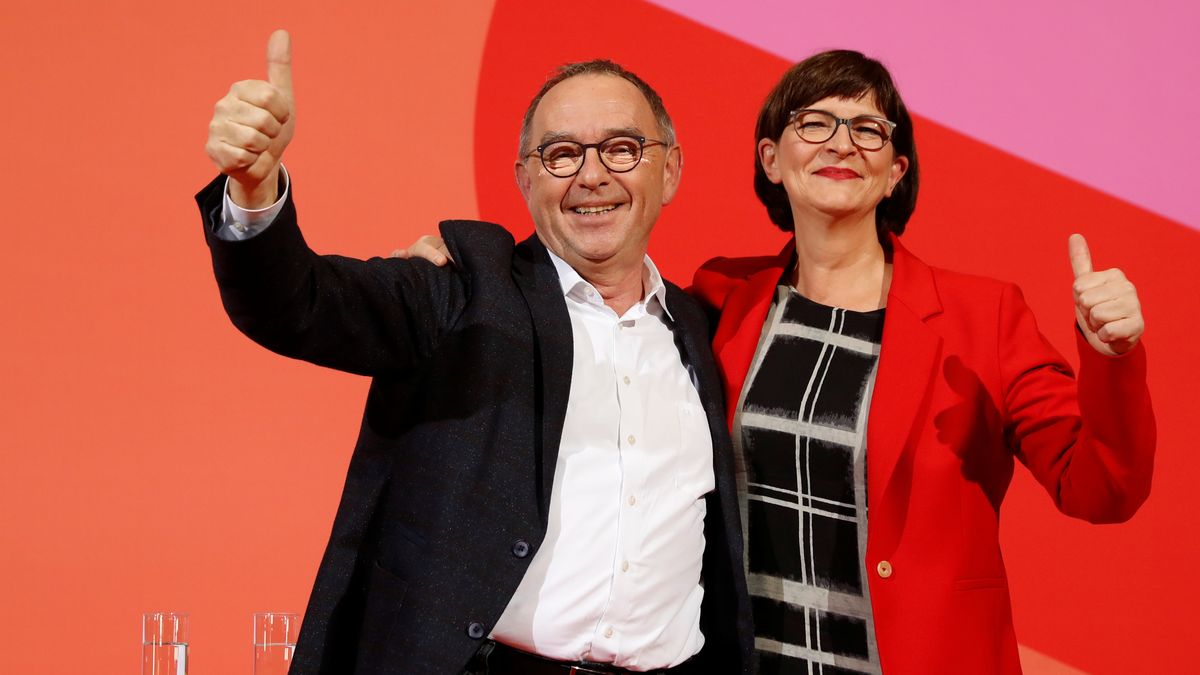 SPD-Politiker Walter-Borjans, Esken