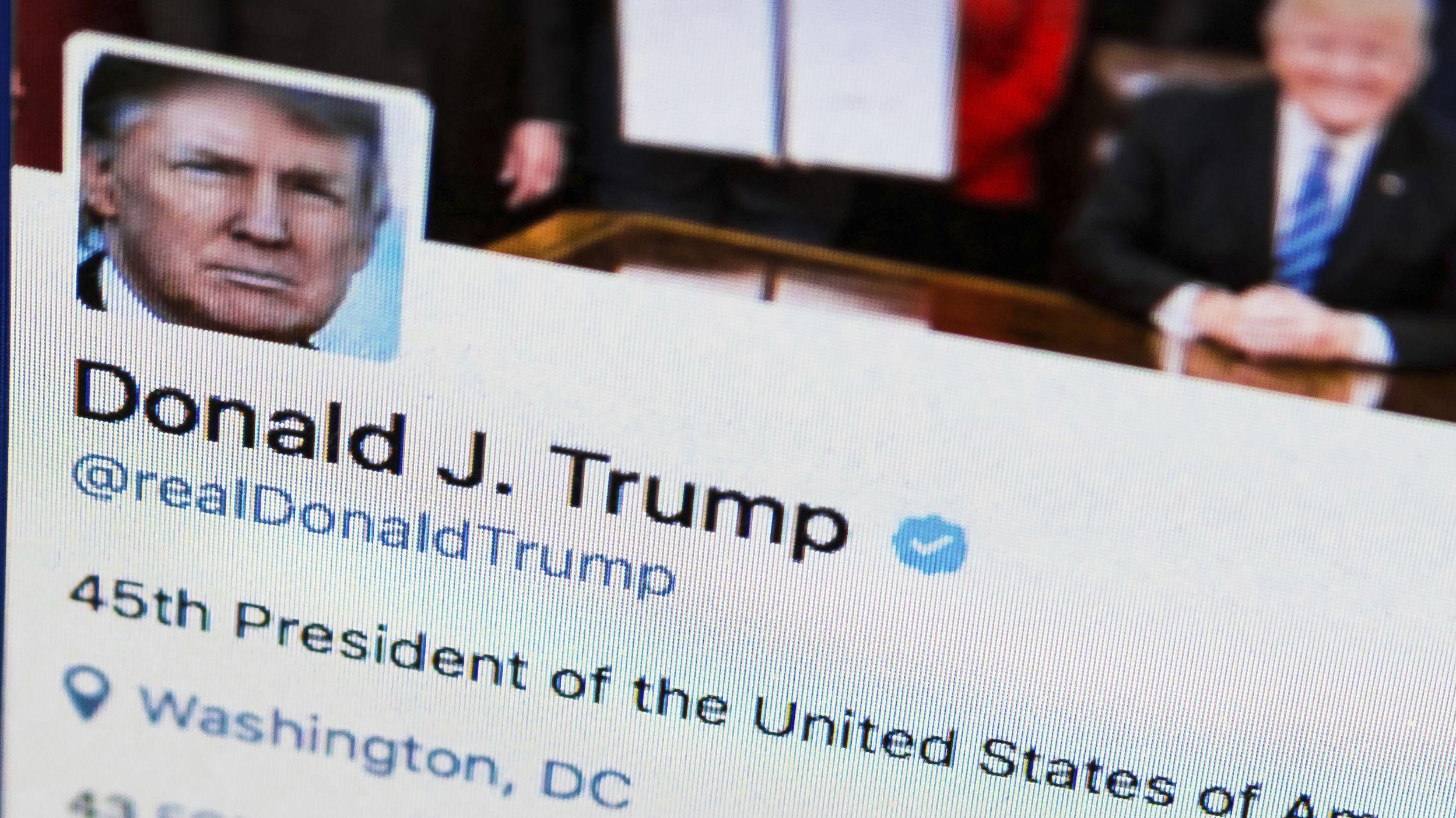 Twitteraccount des Präsidenten