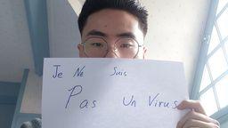 """""""Ich bin kein Virus""""   Bild:Twitter/Lou Chengwang"""