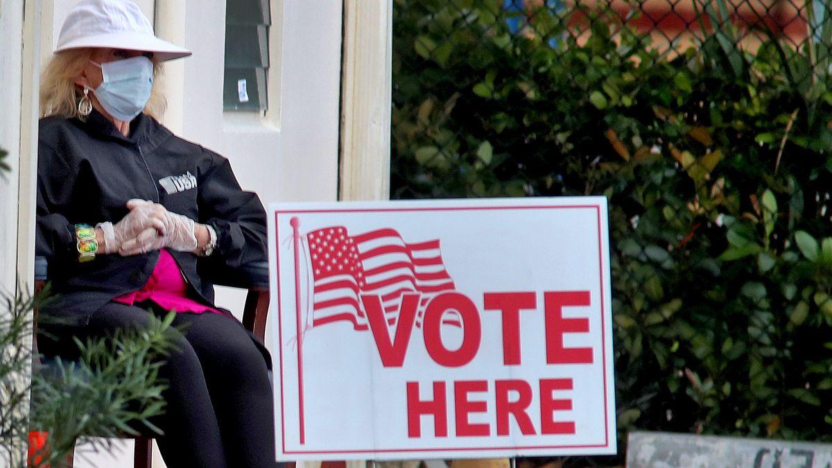 Eingang zu einem Wahllokal