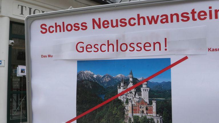 Schloss Neuschwanstein bleibt während der Corona-Krise für Besucher geschlossen