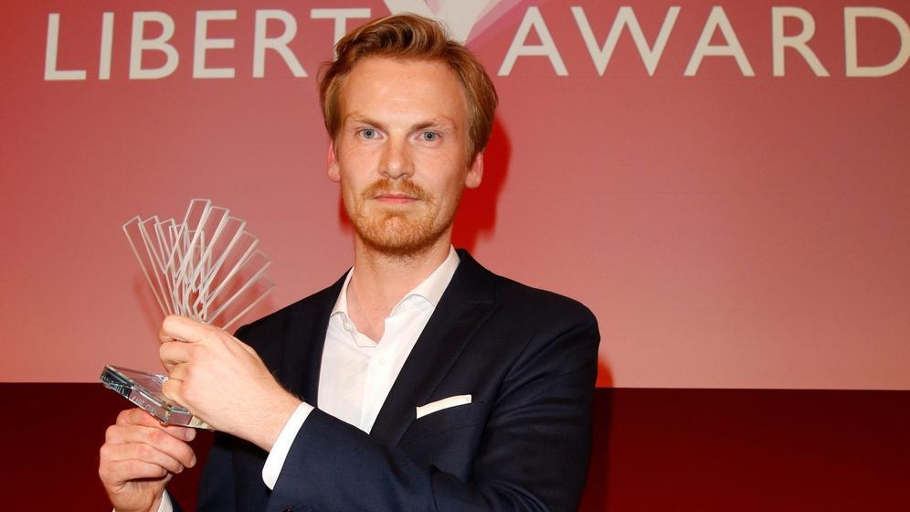 Claas Relotius bei der Verleihung des Reemtsma Liberty Awards   Bild:picture alliance / Eventpress