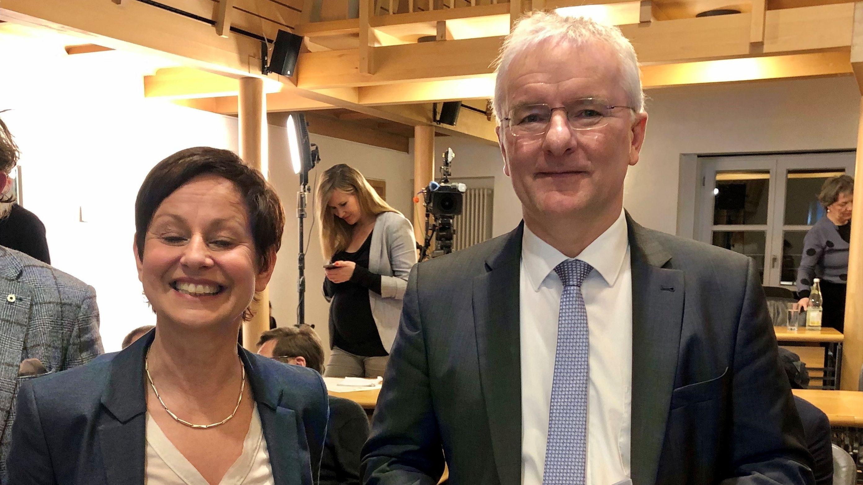 Sigi Hagl (Grüne) und Alexander Putz (FDP)