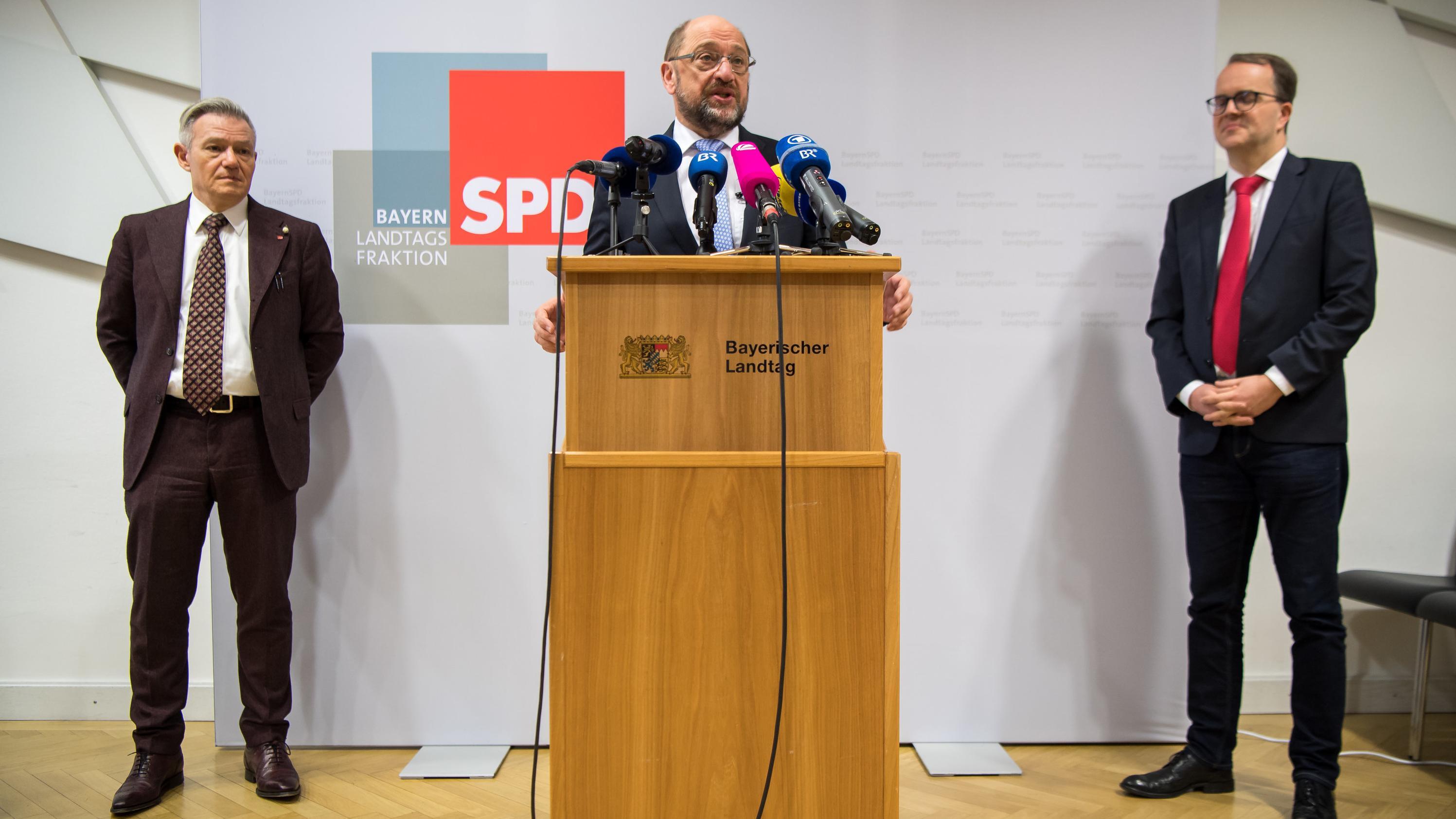 Martin Schulz bei der Winterklausur der Bayern-SPD.