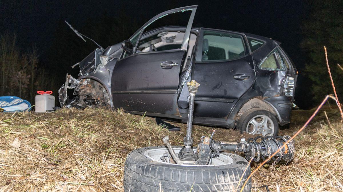 Der Mercedes des tödlich verunglückten Unfallverursachers