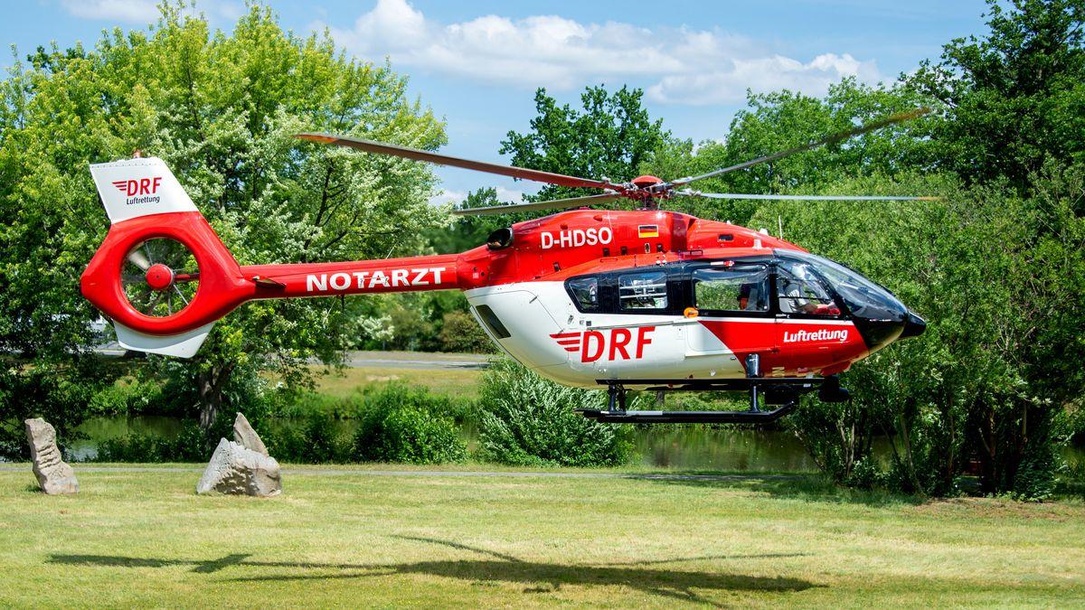 Ein Rettungshelikopter der DRF Luftrettung.