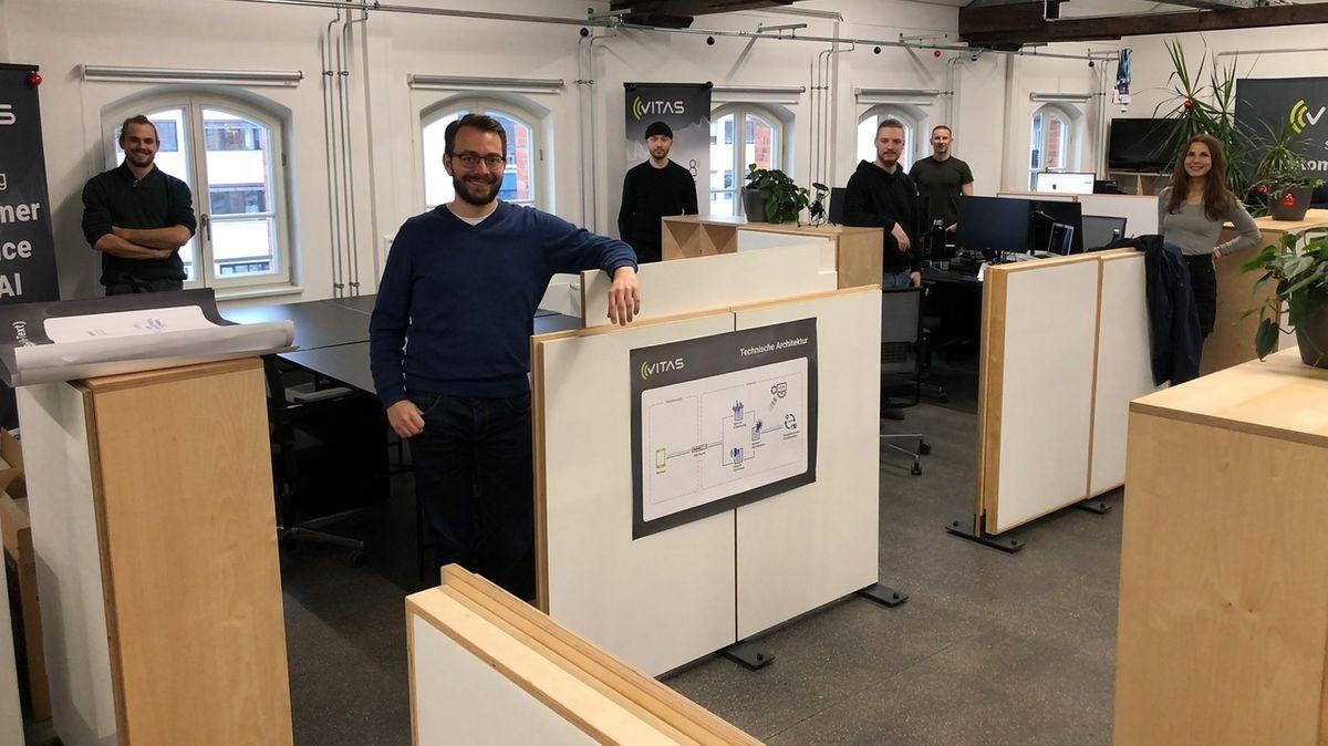 Das Team des Nürnberger Start-ups Vitas