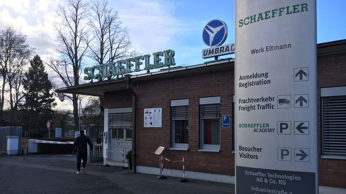 Das Schaeffler-Werk in Eltmann im Landkreis Haßberge