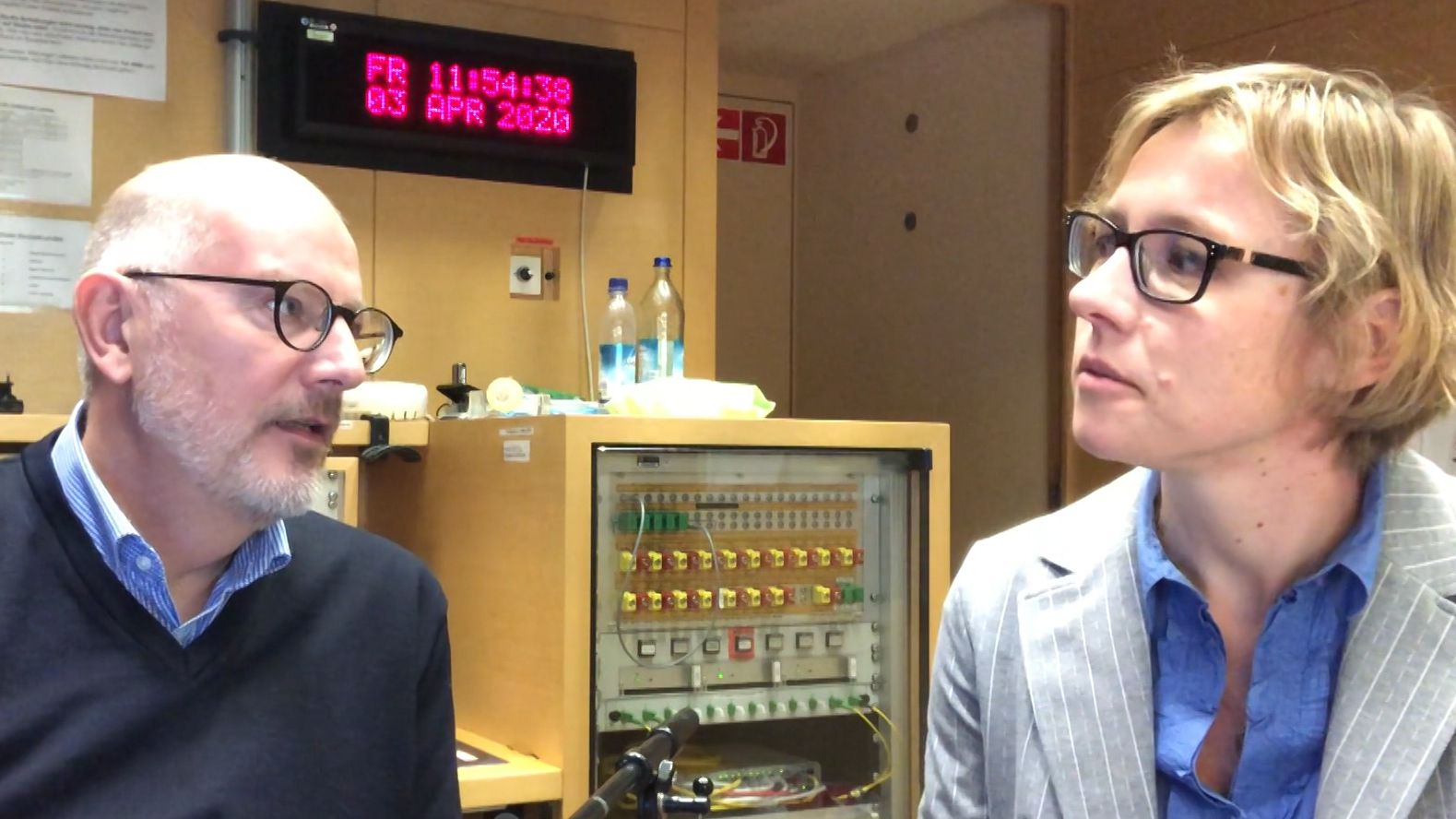 Nikolaus Nützel, Leiter der BR-Redaktion Landespolitik und BR-Reporterin Eva Eichmann