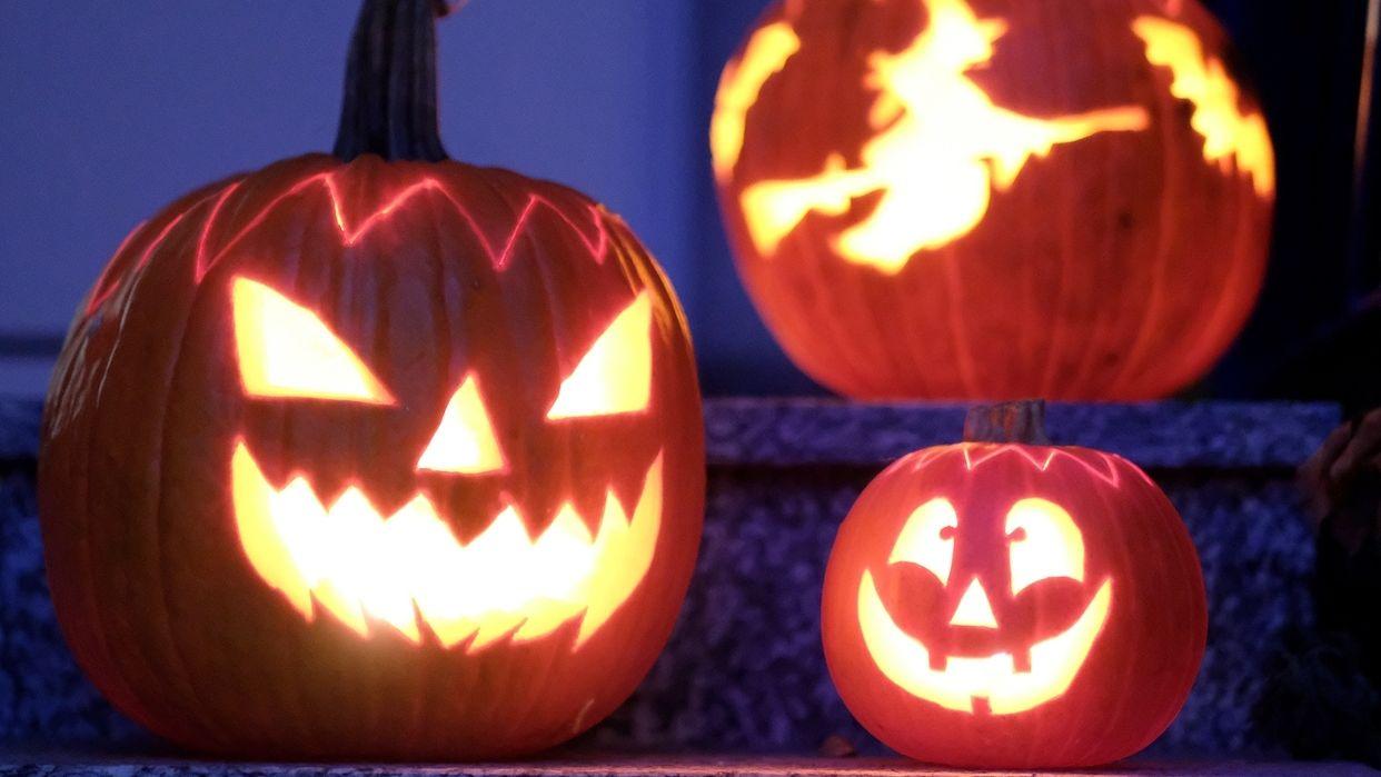 Symbolbild: beleuchtete Halloween-Kürbisse
