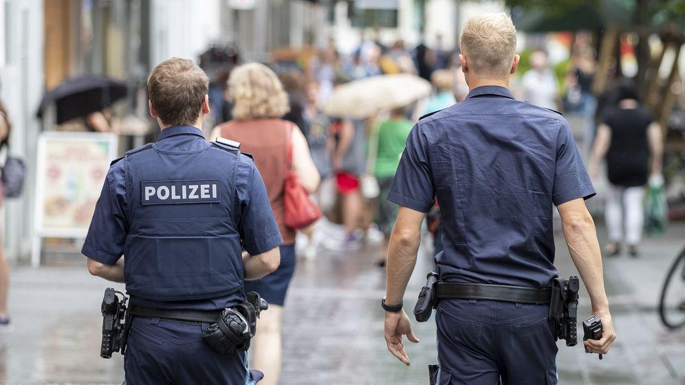 Polizeikontrollen zur Maskenpflicht in Würzburg (13.8.20) | Bild:picture alliance