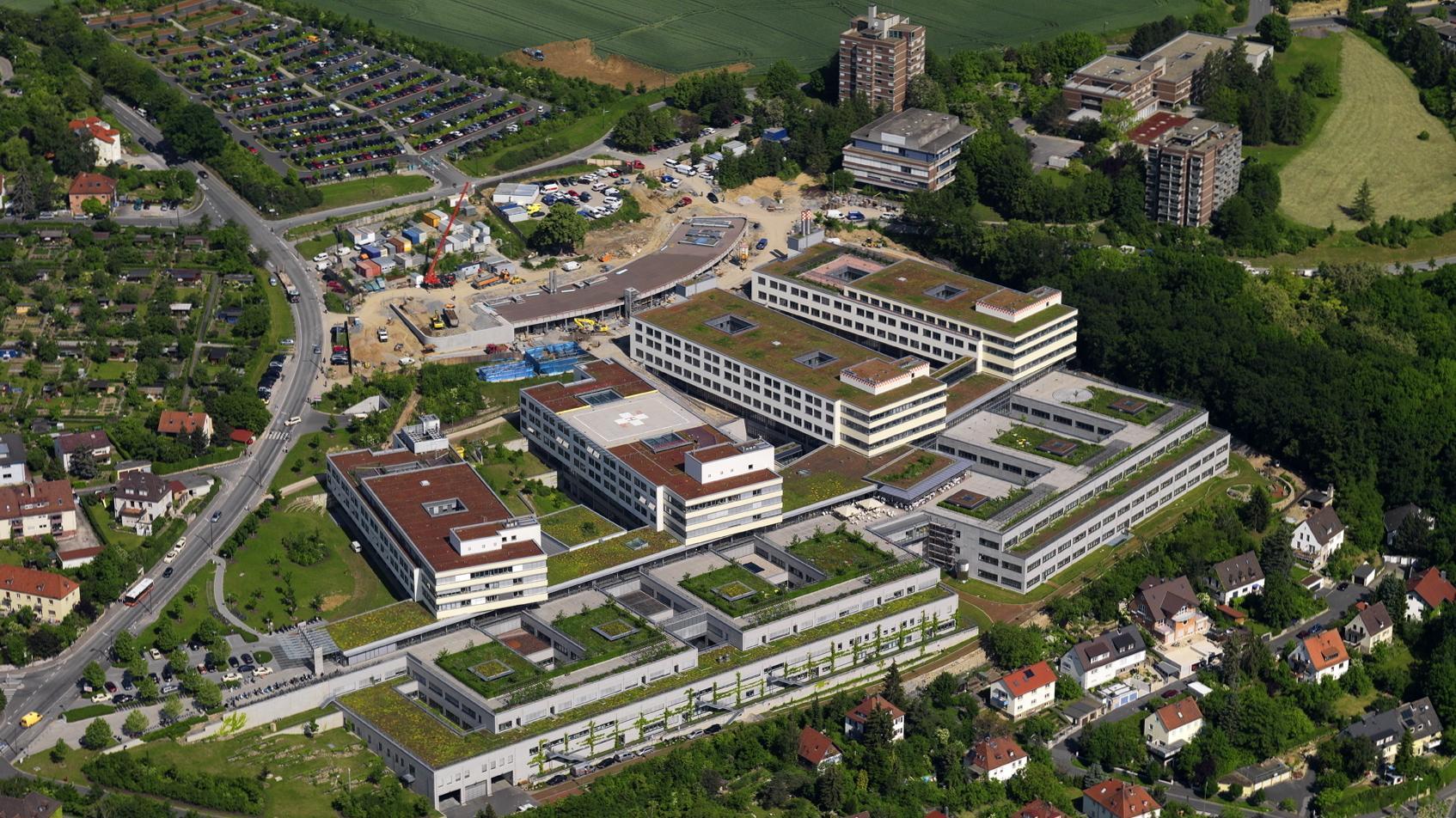 Neuer Bereich der Würzburger Uni-Klinik