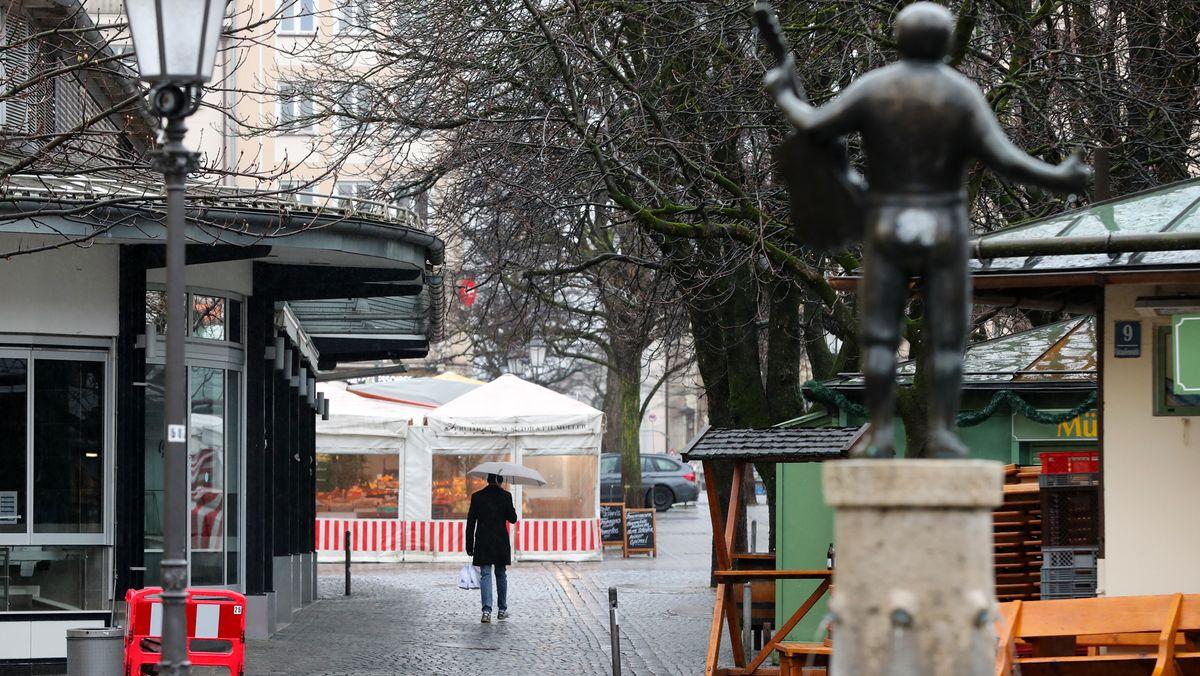 Münchner Vktualienmarkt im Lockdown