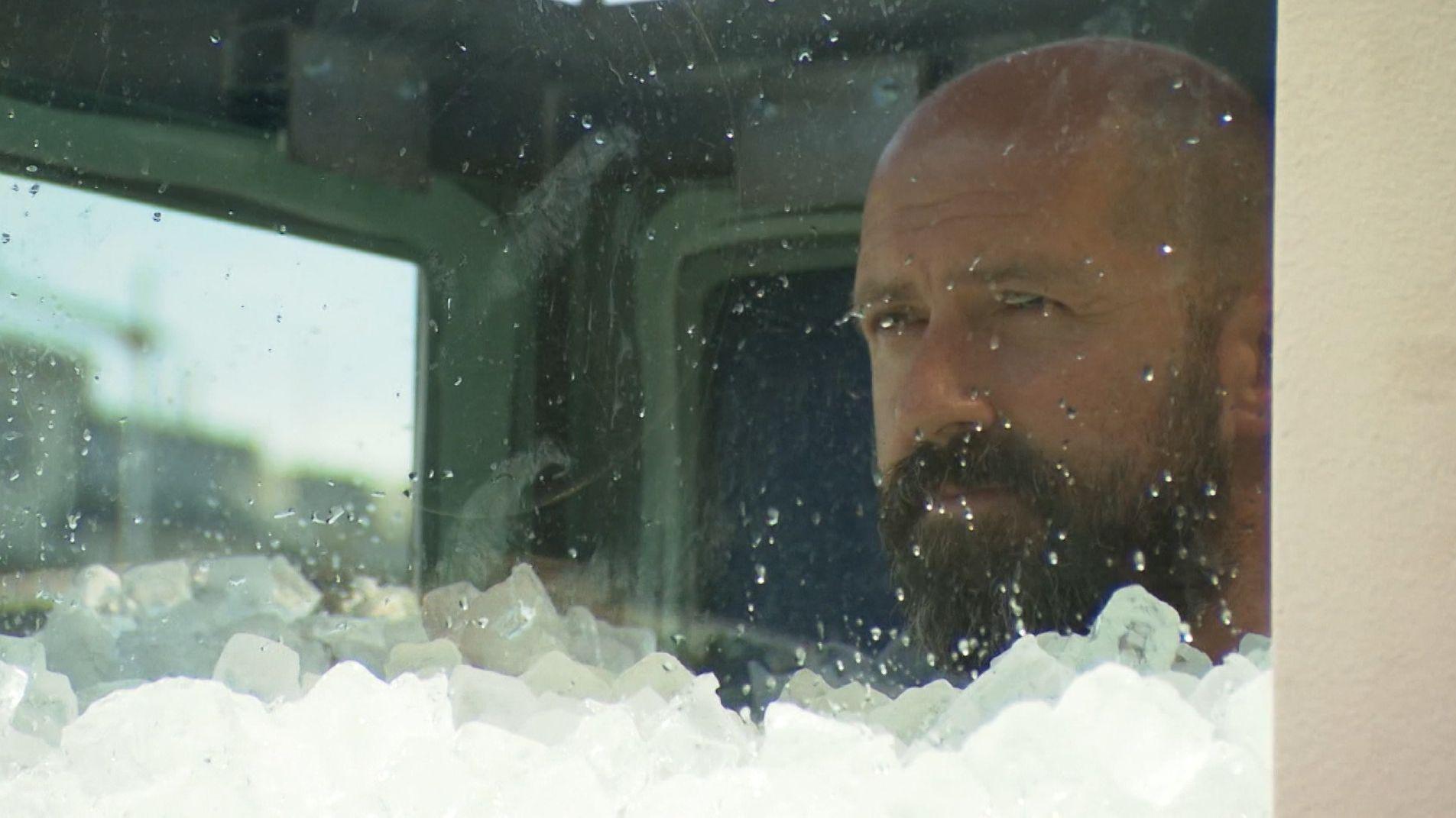 Der Extremsportler Josef Köberl hielt es über zwei Stunden in einer Eiskabine aus