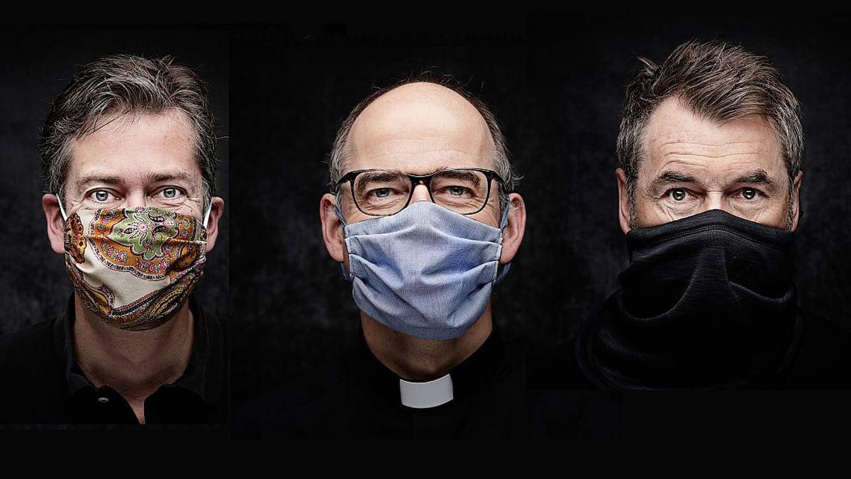 Oberbürgermeister Christian Schuchardt, Bischof Franz Jung und Fußballtrainer Bernd Hollerbach haben sich schon für die Aktion #mynewface fotografieren lassen.