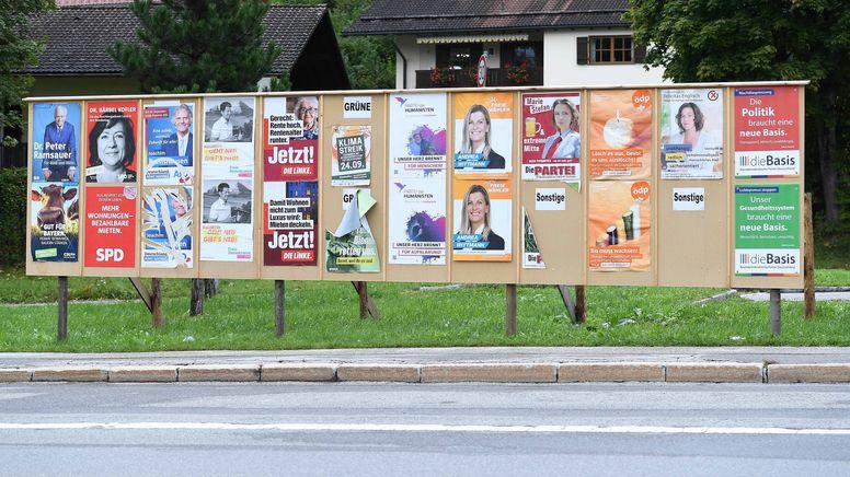Wahlplakate zur Bundestagswahl    Bild:picture alliance/dpa/Revierfoto   Revierfoto