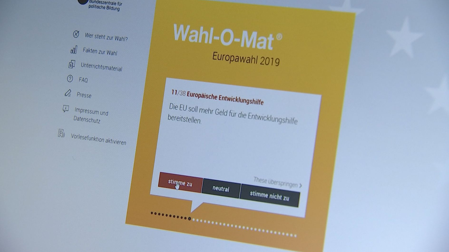 wahlomat europawahlen