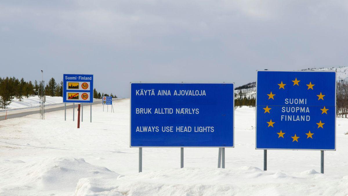 Finnisch-norwegische Grenze in der Finnmark