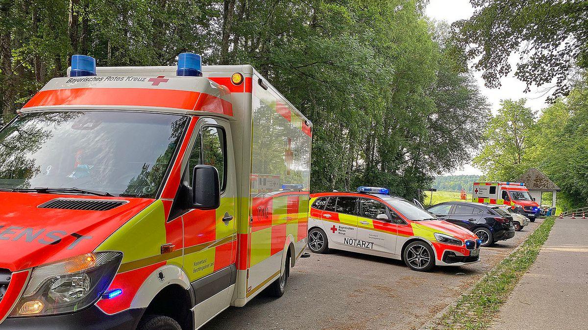 Rettungswägen am Unfallort