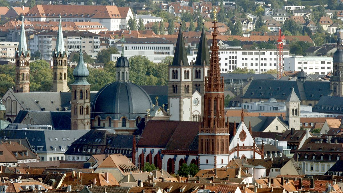 Die Innenstadt von Würzburg
