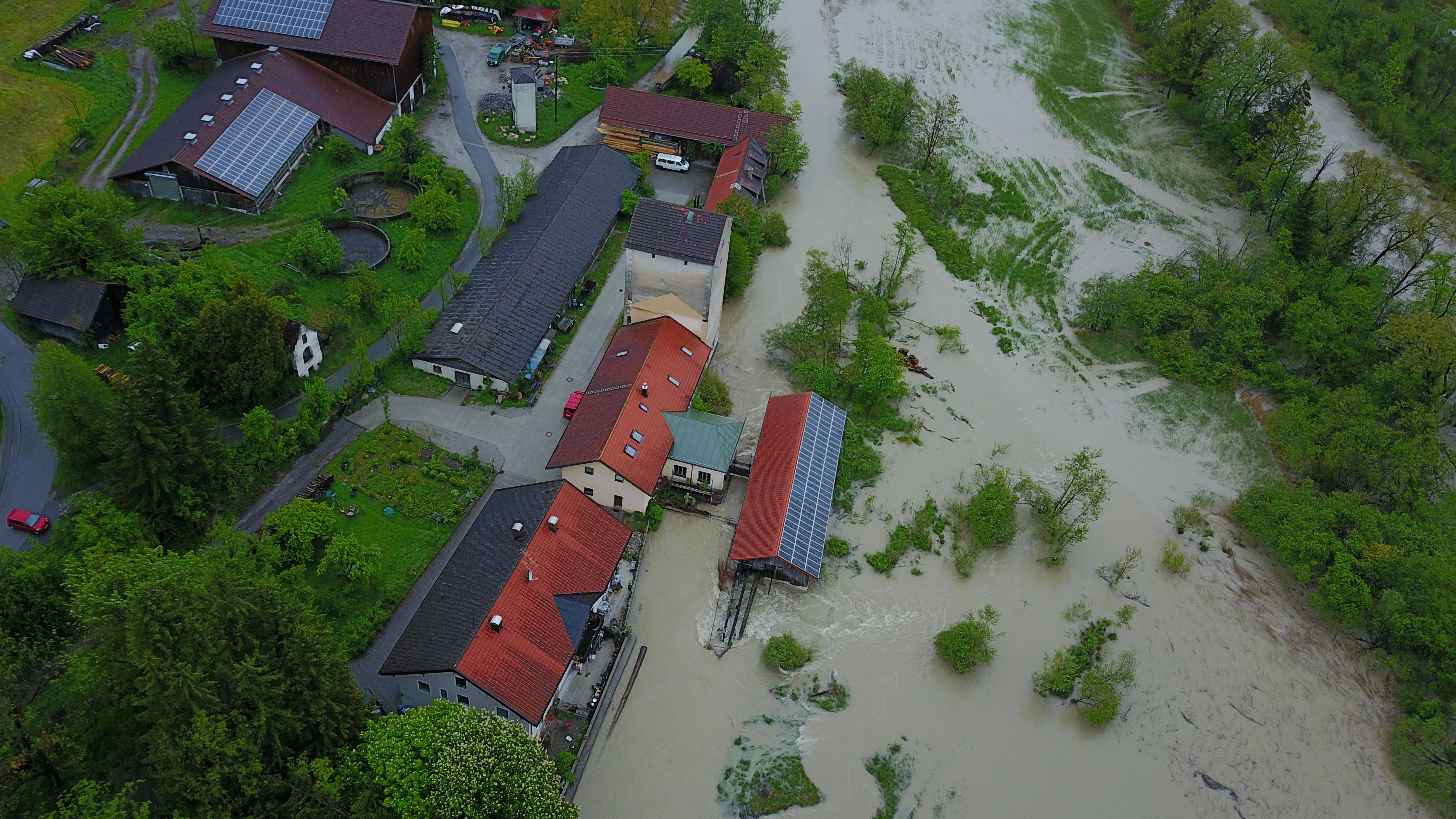 Hochwasser im Mai 2019 in Murnau