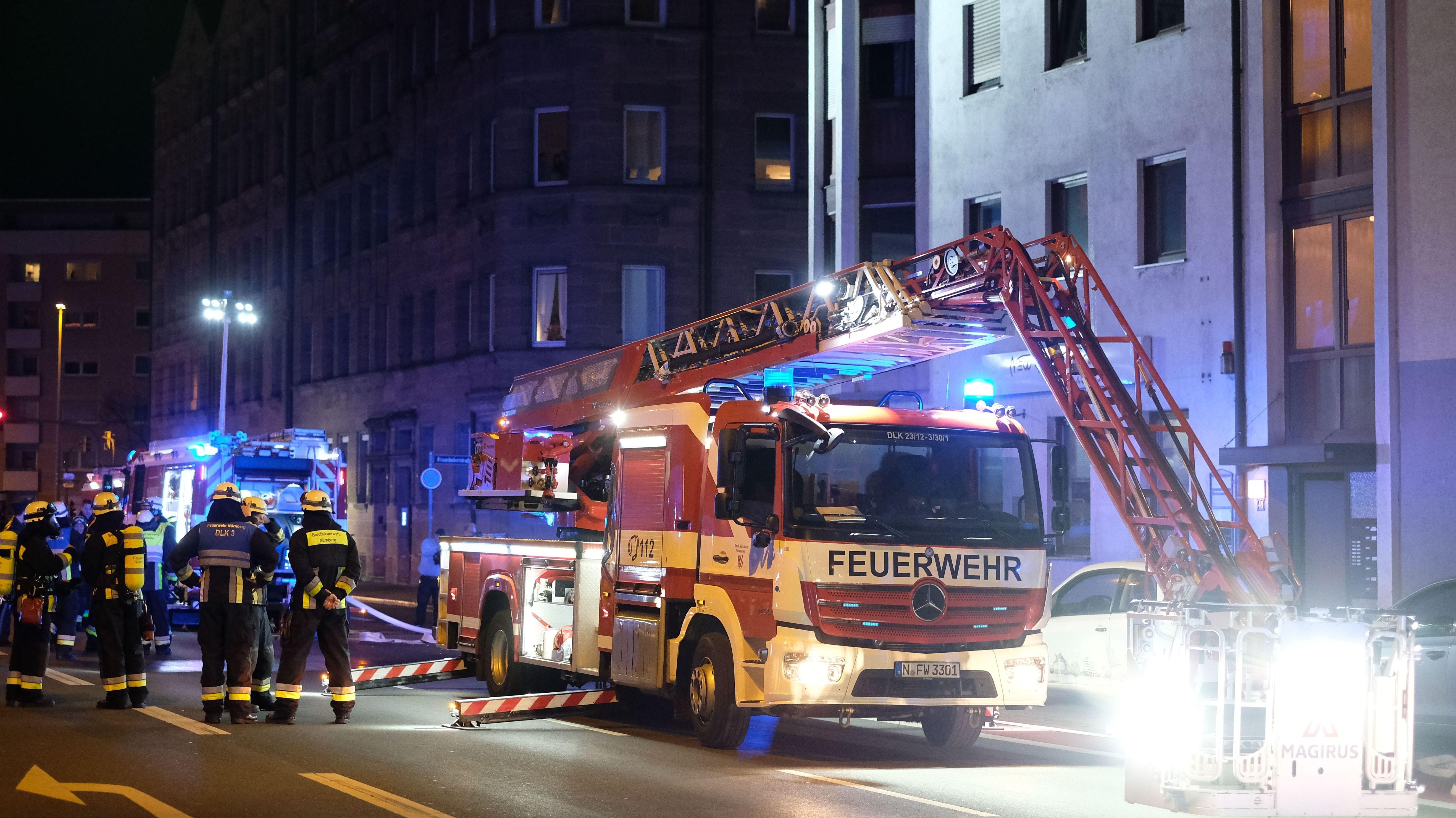 Brand in Nürnberg-Schoppershof