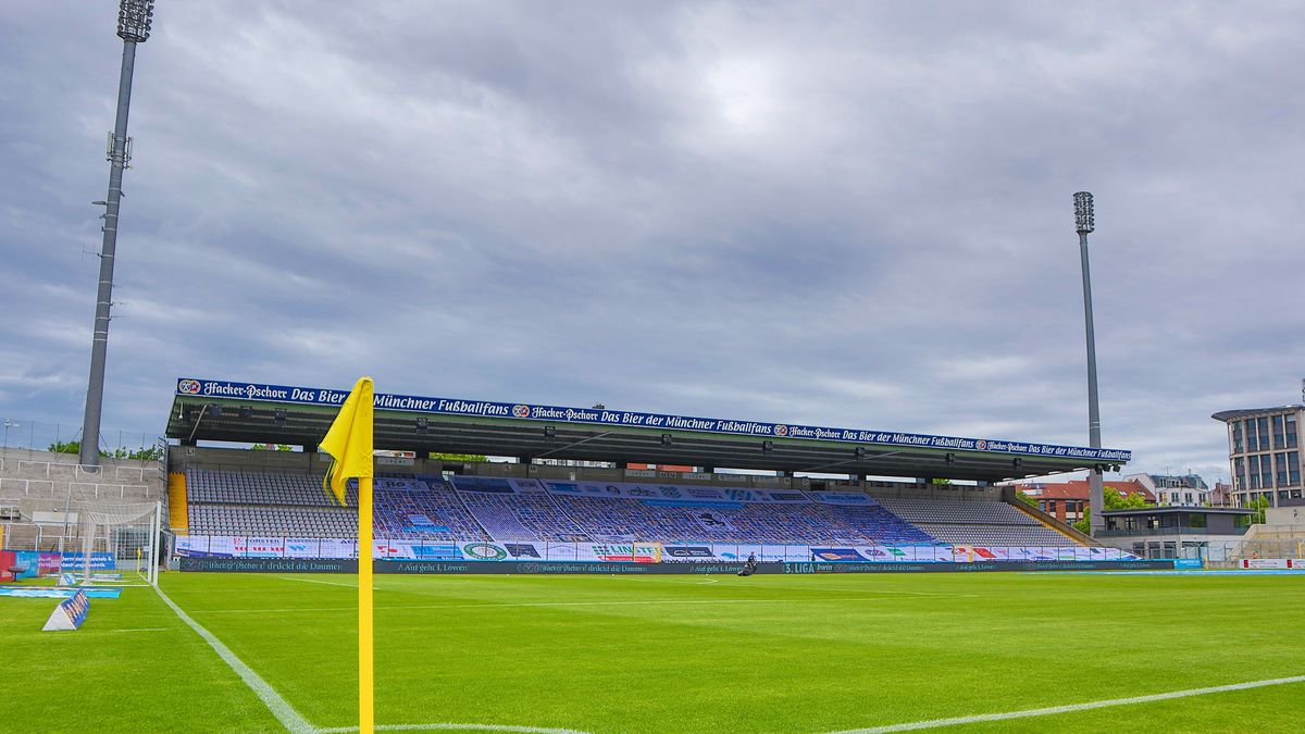 Leeres Grünwalder Stadion