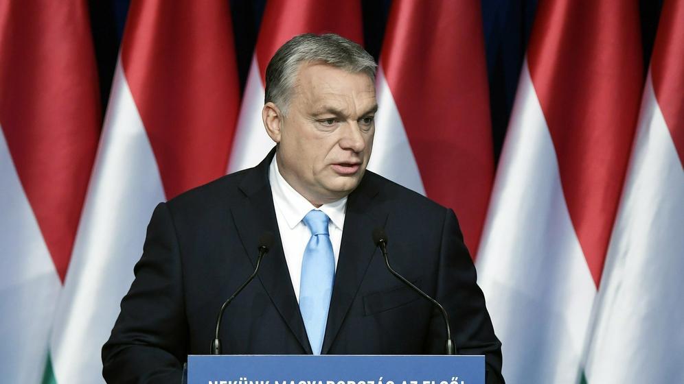 Ungarns Ministerpräsident Orban  | Bild:dpa-Bildfunk/Szilard Koszticsak