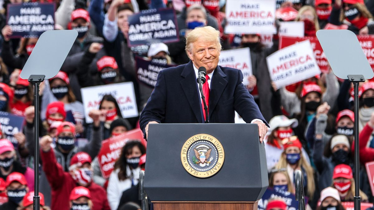 "Trump hält Wahlkampfrede bei seiner ""Make America Great Again Rally"" in New Hampshire"