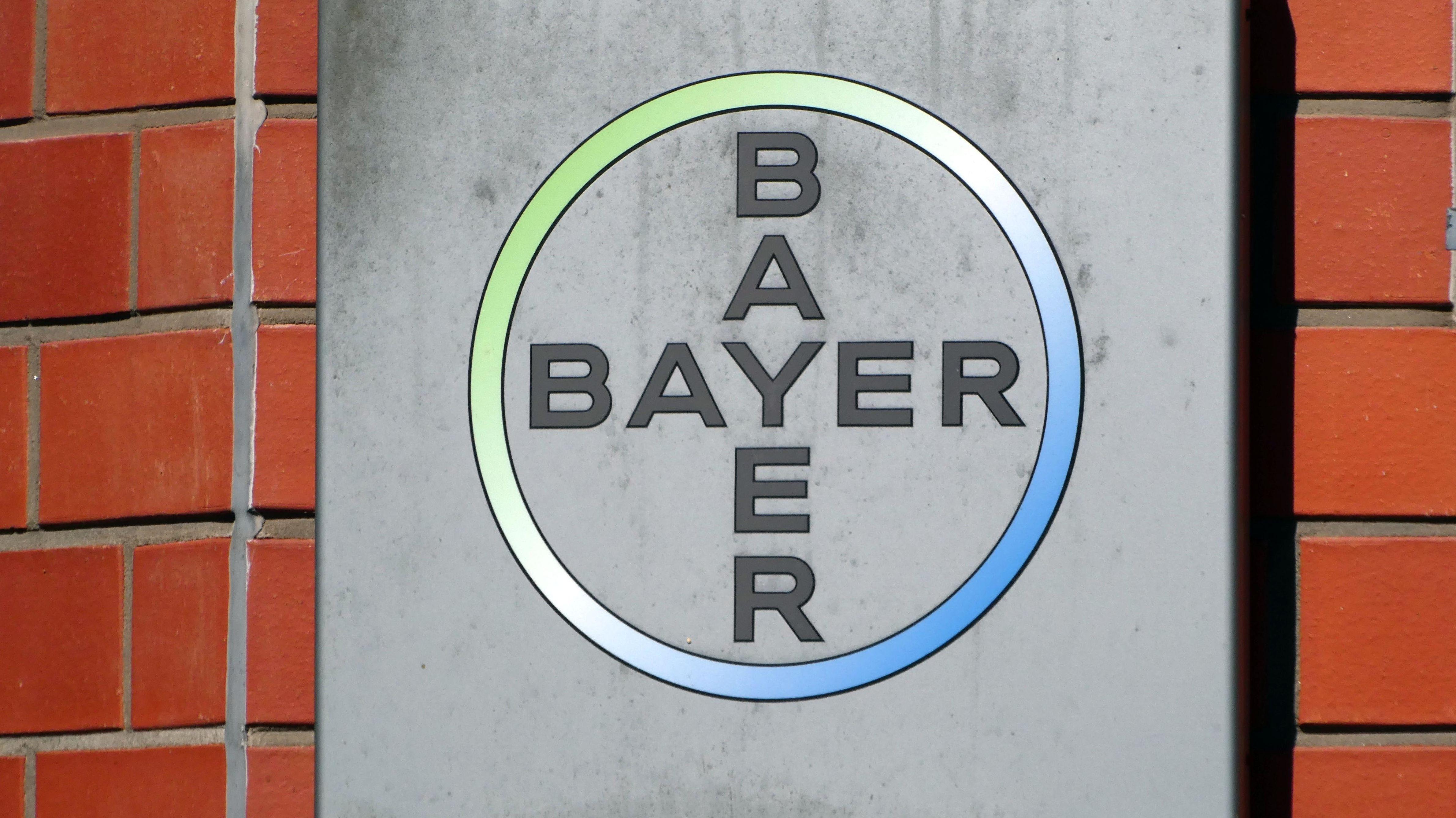 Das Logo der Bayer AG