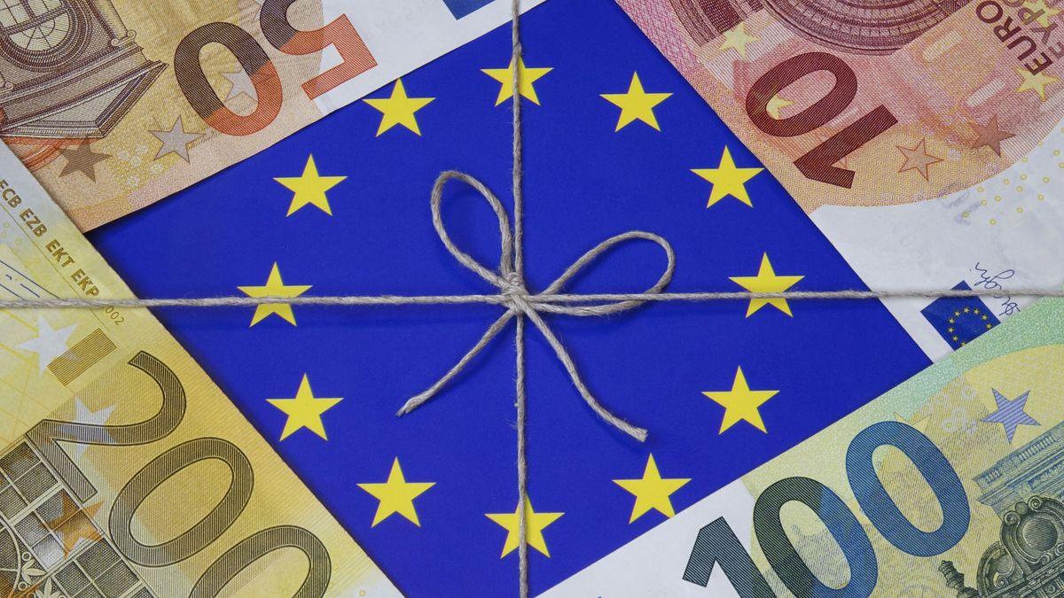 EU-Paket mit Geldscheinen (Symbolbild)