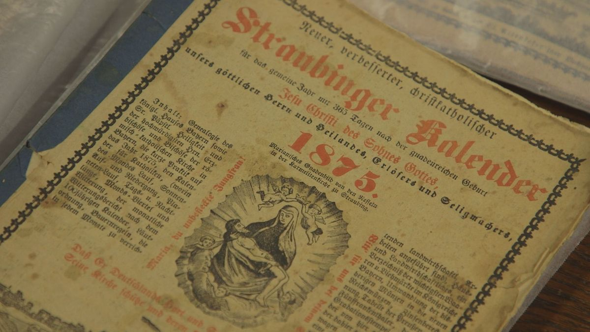 Der Straubinger Kalender aus dem Jahr 1875