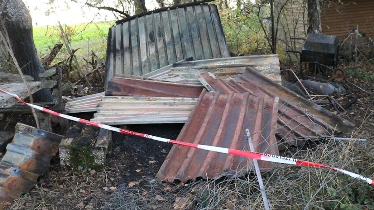 Ansbach: Leiche in abgebranntem Gartenhaus gefunden.