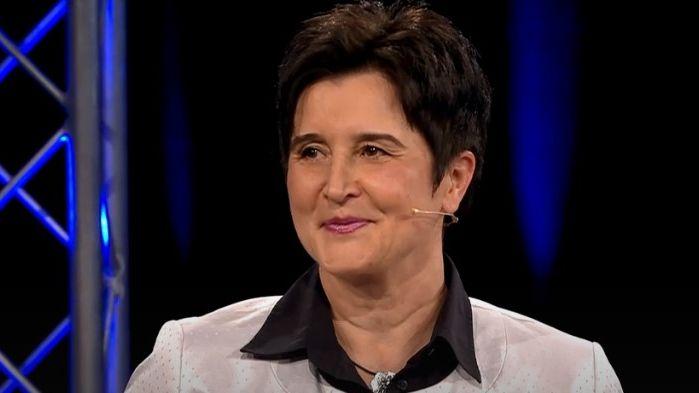Die SPD-Kandidatin Maria Noichl in der BR Wahlarena in Bamberg