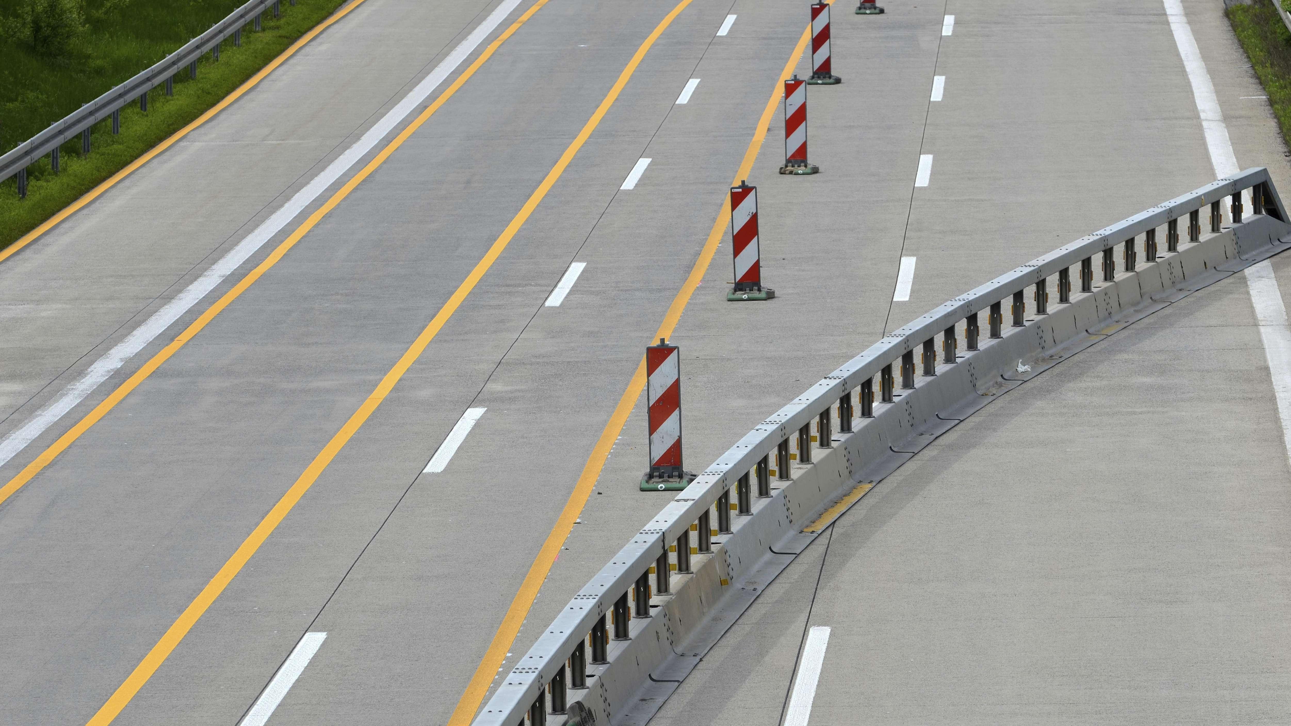 Baustelle auf der Autobahn (Symbolbild)