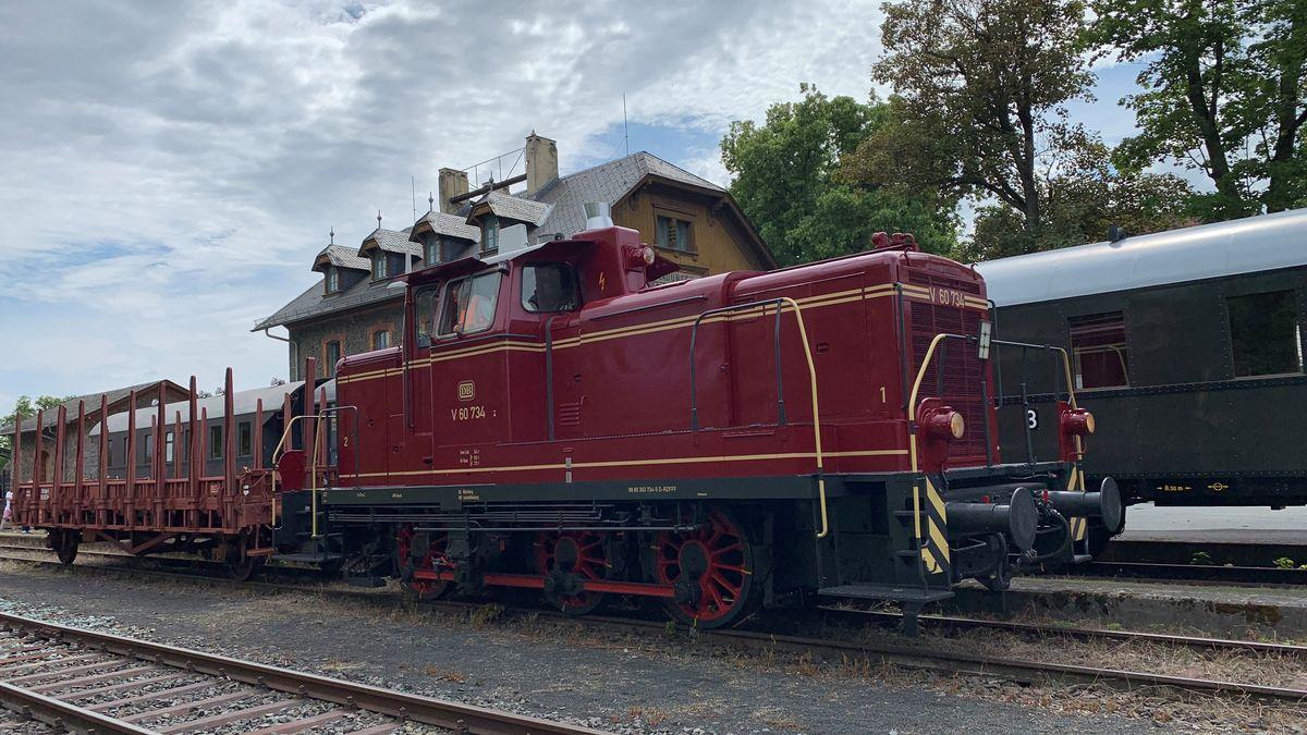 Die neue Lok der Fladunger Museumsbahn