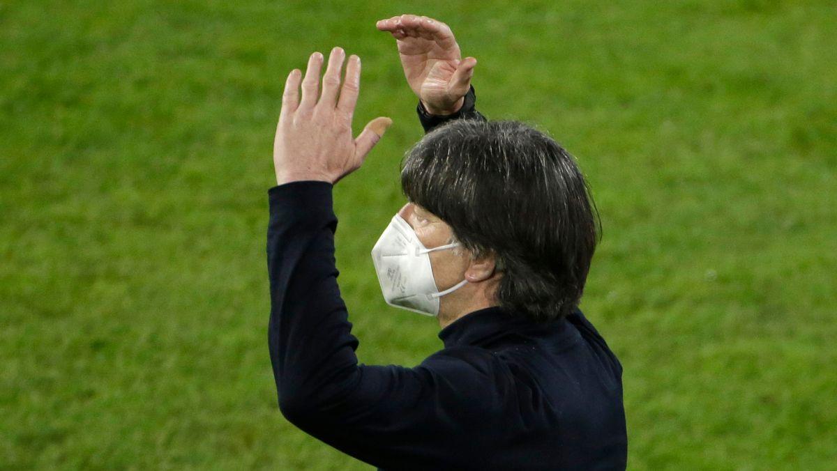 Fußball-Bundestrainer Joachim Löw beim Länderspiel gegen Mazedonien