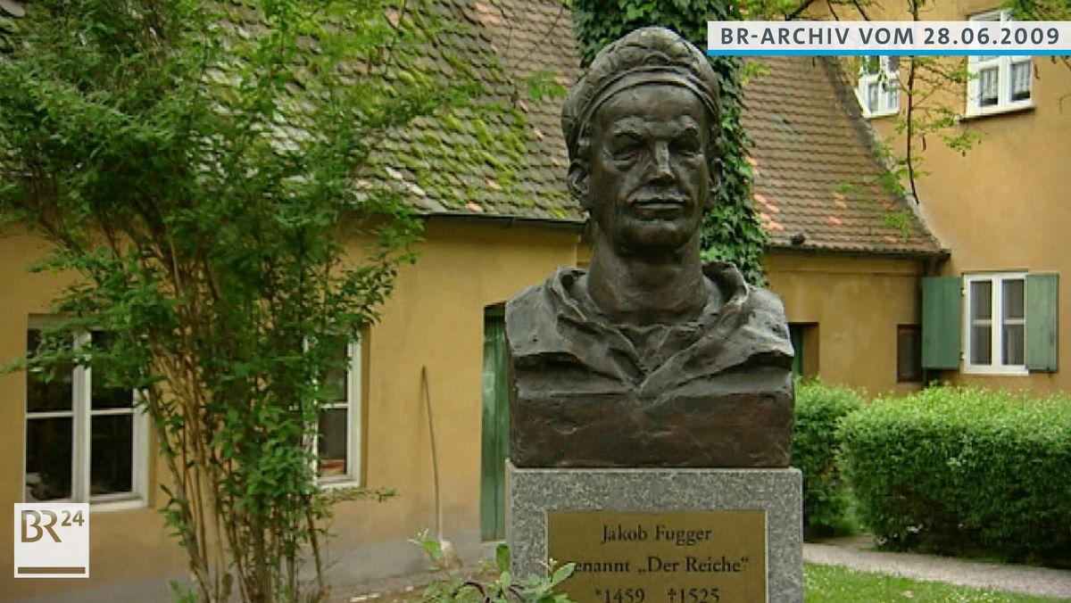 Büste von Jakob Fugger in der Augsburger Fuggerei