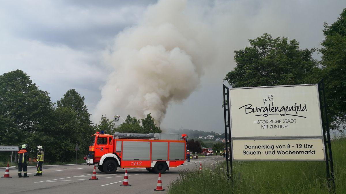 Rauchsäule über Burglengenfeld