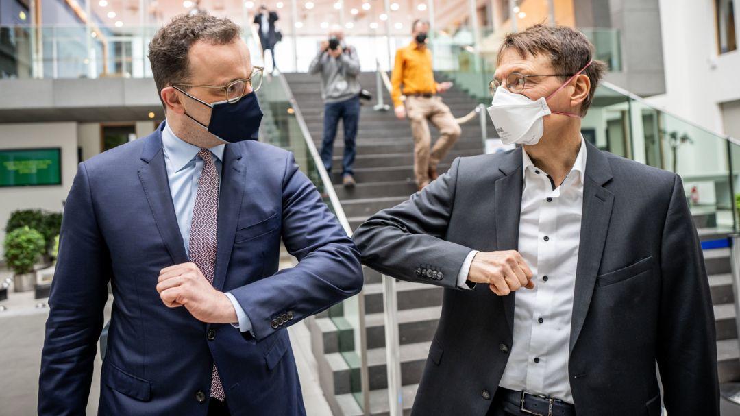 Jens Spahn und Karl Lauterbach am 19.03.2021 in Berlin
