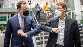 Jens Spahn und Karl Lauterbach am 19.03.2021 in Berlin   Bild:dpa-Bildfunk